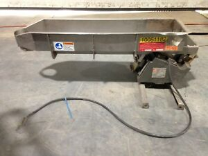 Eriez Magnetics Hs36 Vibratory Conveyor No Controls 29 x8 x4 Pan