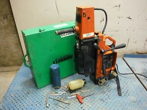 Used Jancy Slugger 4x4 Portable Magnetic Base Drill Press Drilling Machine