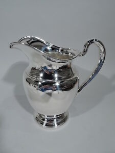 International Water Pitcher E97 Traditional American Sterling Silver