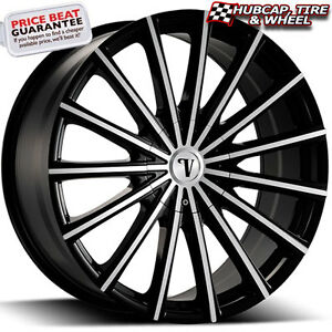 Velocity Vw10 V10 Black Machined 20 x7 5 Custom Wheels Rims set Of 4 Free Ship