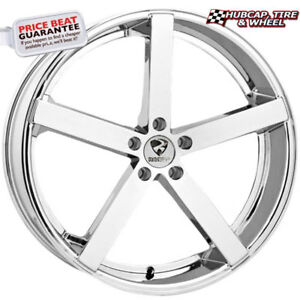 Ravetti Model 2 Chrome 20 x10 Custom Wheels Rims set Of 4