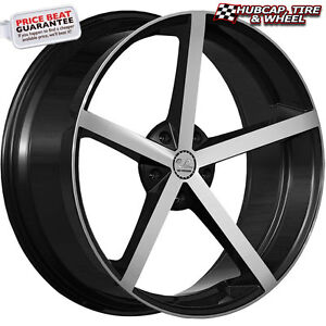 U2 33a Black Machined 24 x9 5 Custom Wheels Rims set Of 4 Free Shipping