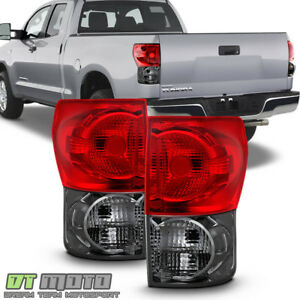 For Red Smoke 2007 2013 Toyota Tundra Tail Brake Lights Aftermarket Left right