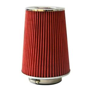 3 5 Inch 89 Mm Red Long Performance High Flow Cold Air Intake Cone Filter