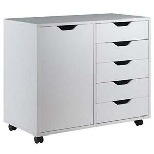 Winsome Wood Halifax Cabinet White Finish