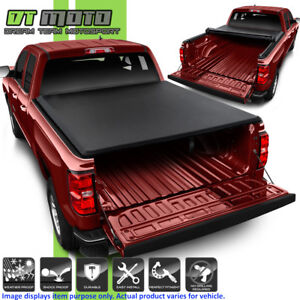 Roll Up Tonneau Cover For 2014 2018 Chevy Silverado Sierra 6 5ft Fleetside Bed