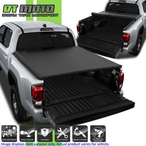 Premium Soft Roll Up Tonneau Cover For 2016 2018 Toyota Tacoma 5ft 60 Bed