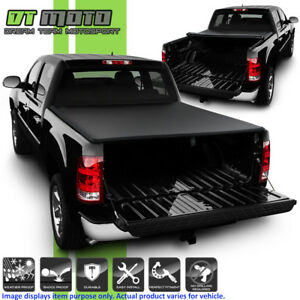 Roll Up Tonneau Cover For 2004 2006 Chevy Silverado Gmc Sierra Crew Cab 5 8 Bed