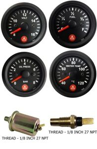 Gauges Oil Pressure Temperature Volt Fuel Temp Oil Sensor 2 Electrical