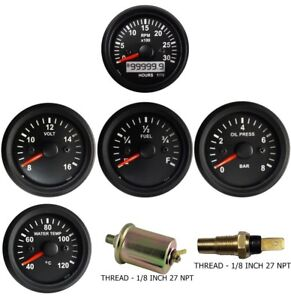 Tachometer Mag Oil Pressure Temperature Volt Fuel Temp Oil Sensor