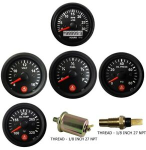 3k Tachometer Ign Oil Pressure Temperature Volt Fuel Temp