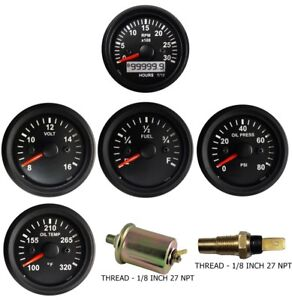 3k Tachometer Mag Oil Pressure Temperature Volt Fuel Temp