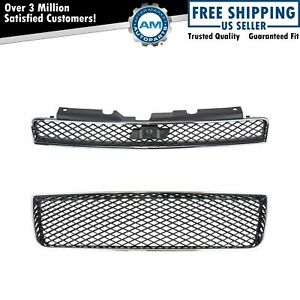 Front Upper Lower Grille Kit Set Of 2 For Chevrolet Impala New