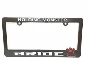 X1 Jdm Bride Holding Monster Abs Black Racing License Plate Frame Civic Accord