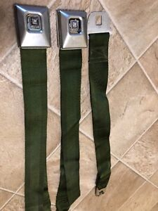 1970 1971 Chevelle Montecarlo Gto Lemans Green Deluxe Seat Belt 27b70