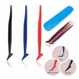 3 In 1 Tuck Tools Micro Squeegee Car Window Sticker Film Tint Vinyl Wrapping Kit