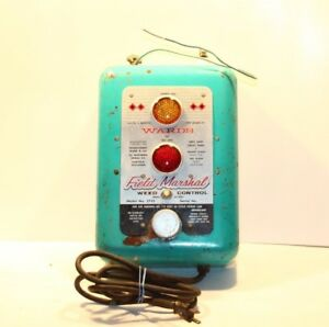 Vintage Wards Field Marshal Electric Fence Charger Northern Signal 2752 Working