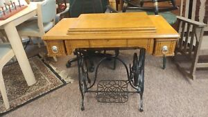 Antique Industrial Treadle Sewing Machine Country Primitive Singer Gypsy