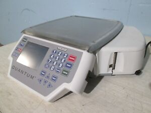 hobart quantum Qmax Programmable Commercial Weight Scale W label Printer