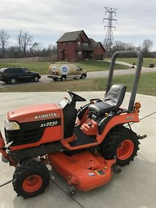 Kubota Bx2230 Diesel Tractor 4x4 With 60 Deck Pto Low Hours