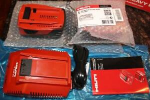 3pc Lot Hilti C 4 36 90 Li ion Battery Charger And 2 B 18 5 2 Batteries New