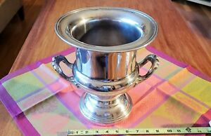 Antique Silver Plate Champagne Wine Chiller Ice Bucket Classic Design