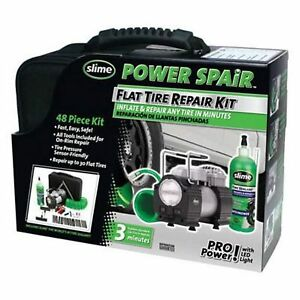 Slime 70004 Power Spair Tire Repair Kit 48 piece Set New
