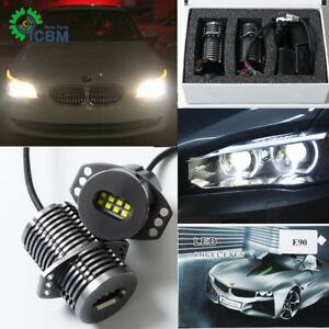 2x Led Angel Eye Halo Ring Marker Light Bulb 80w For Bmw E90 E91 With Error Free