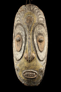 Iatmul Mask Sepik Carving Primitive Tribal Art Papua New Guinea