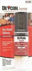 Devcon 22445 H2 Hold Underwater Epoxy Syring Waterproof Adhesive Glue 1403872