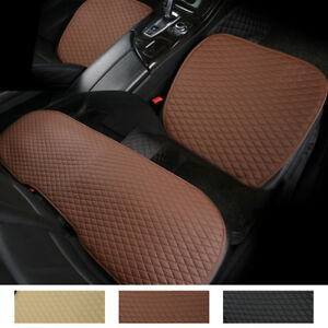 Pu Leather Car Seat Cover Protector Mat Pad Universal For Auto Suv Chair Cushion