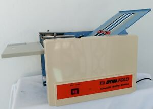 Dyna Fold De 202af Automatic Paper Folding Machine Works Great