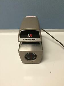 Rapidprint Ar e Date Time Document Stamp No Key Working Free Shipping