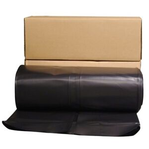 Husky Black Plastic Sheeting 12 X 100 Ft 6 Mil Cover Sheet Protector Paint Film