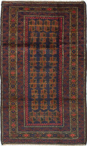 Hand Knotted Carpet 3 5 X 5 11 Traditional Vintage Wool Rug