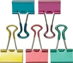 Staples Small Metallic Soft Grip Binder Clips 3 4 Size With 3 8 Capacity 1