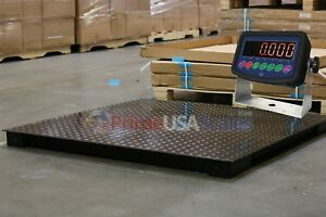 Floor Scale 5 500 Lb Capacity 40 x40 Platform Size With Indicator Warehouse