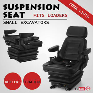 Suspension Seat Tractor Forklift Excavator Skid Loaders With Seat Belt Foldable