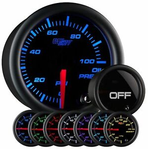Glowshift Tinted 7 Color Oil Pressure Gauge New