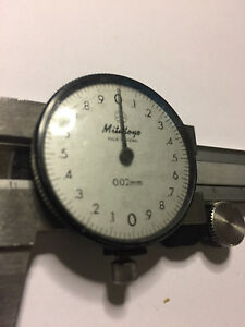 Mitutoyo 0 150mm Range Stainless Steel Metric Dial Caliper With 0 02mm