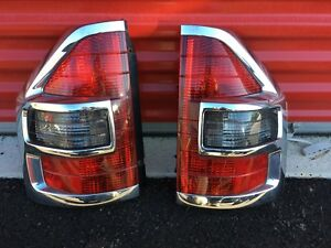 2001 2002 Mitsubishi Montero Left And Right Taillight Tail Light Set Chrome