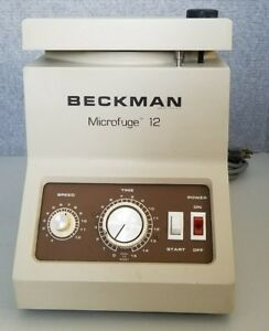 Beckman Microfuge 12 Non refrigerated Tabletop Laboratory Microfuge