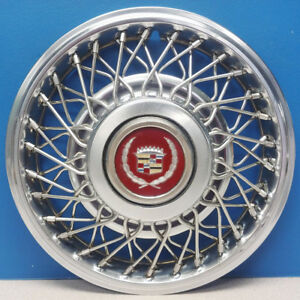 One 1985 Cadillac Deville Fleetwood Fwd 2047a 14 Wire Hubcap Wheel Cover