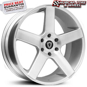 Capri Luxury 5288 22 x9 Silver Machined Face Custom Wheels Rims x4 Free Ship