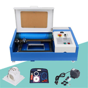 Upgraded 40w Co2 Usb Laser Engraver Cutter Machine 12x8in With 4 Movable Wheels
