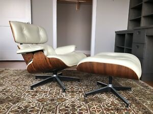 Vintage Herman Miller 670 671 Eames Lounge Chair Ottoman Rosewood Leather
