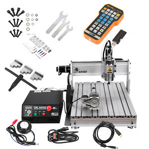 1500w 4 Axis 6040 Cnc Router Engraver Engraving Milling Machine Remote Control