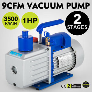 Electric 2 Stages 9 Cfm Rotary 1hp Air Vacuum Pump Hvac Refrigerant Conditioning