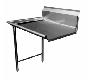 48 Clean Dish Table Left Side Gsw Dt48c l New 9388 Stainless Steel Dishwashing