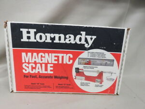Hornady magnetic powder scale for reloading ammunition model m with box
